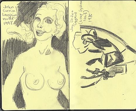 John Currin's Laughing Nude, 1998 and Jay DeFeo's Cygnus, 1975.