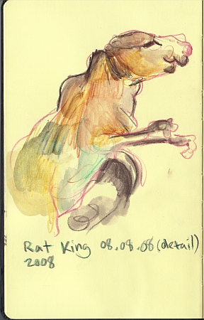 Rat King 08.08.08 (detail), 2008