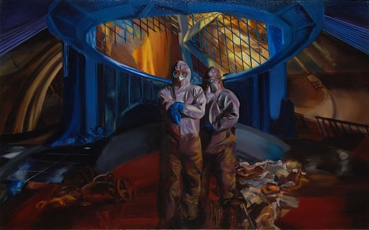 "The Museum 30""x48"" Oil on canvas. 2013"