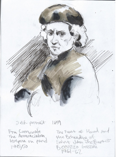 Sunday, December 15th, 2013. The National Gallery. Rembrandt van Rijn self-portrait, 1659.