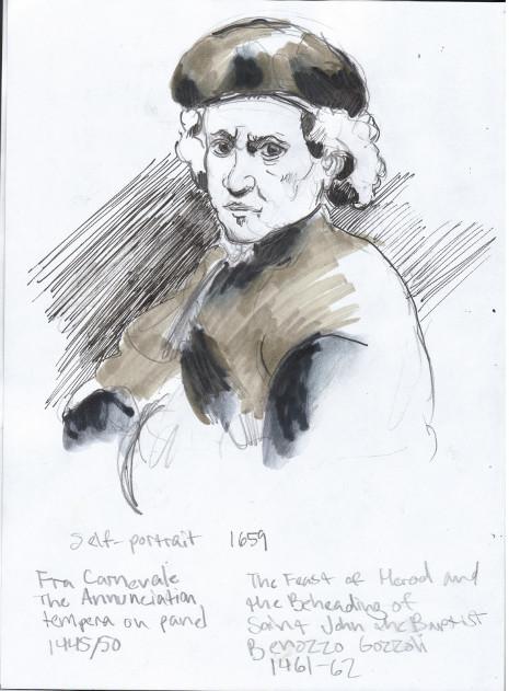 Sunday, December 15th, 2013. The National Gallery. Rembrandt van Rijn self-portrait, 1659.