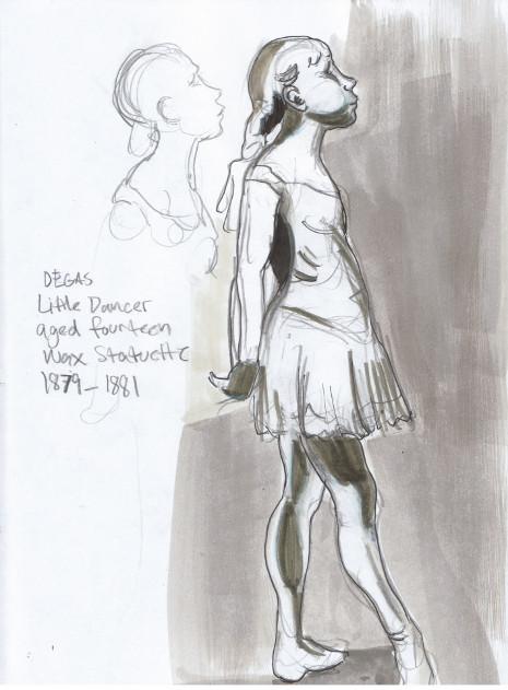 Sunday, December 15th, 2013. The National Gallery. Little Dancer aged fourteen, wax statuette, 1879-1881 by Edgar Degas.