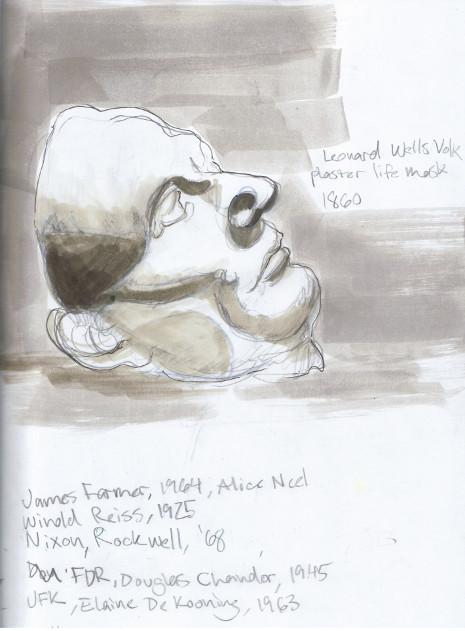 Monday, December 16th, 2013. National Portrait Gallery. Abraham Lincoln plaster life mask by Leonard Wells Volk, 1860.