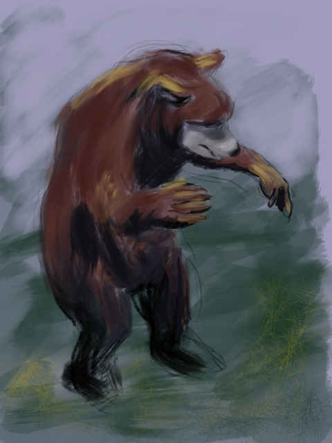 Black bear cub. Ipad sketch.