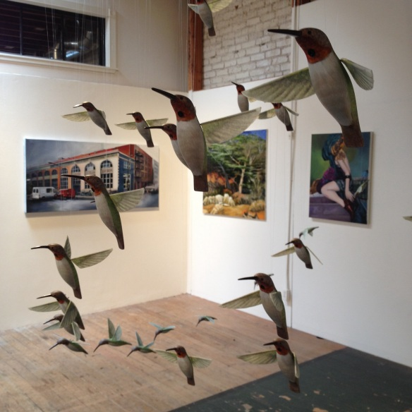 Works by James Shefik, Zach Cotham, Michael Connors and Raymond Wong.
