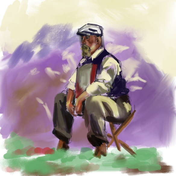 After John Singer Sargent. Painted with Procreate.