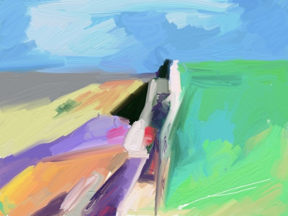 "After Diebenkorn's ""Seawall"""